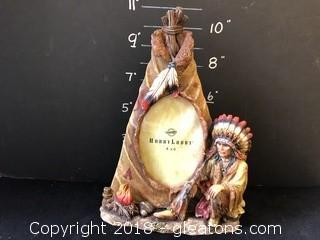 Native American Scene Three-D Frame