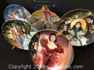 Collection Of Five Gone With The Wind Plates