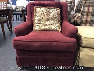 Sherrill Arm Chair Wingback, Soft Fabric, Stationary Small