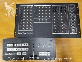 Newtek SX-84 Video Switcher And RS-8 Switcher Control (C)