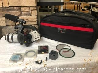 Canon 3CCD Camcorder With Bag And Accessories