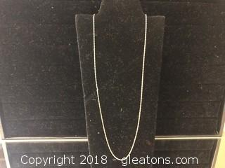 14k Yellow Gold Chain, 1.29 grams 16""