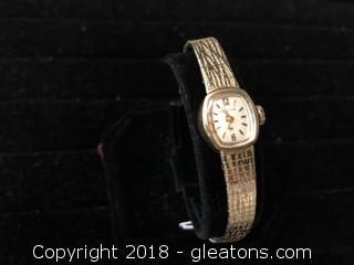 10K Hamilton Ladies Wrist Watch Stamped