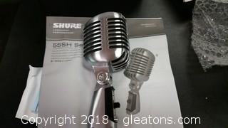 New In Box Shure Microphone 55sH Series 11-Wired Mic B