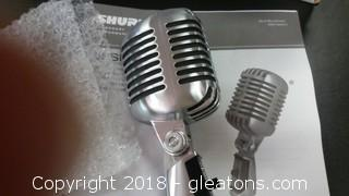 New In Box Shure Microphone 55sH Series 11-Wired Mic A