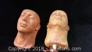 Movie Prop Design Heads + Stands (2)