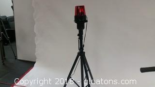 Studio Z Speaker Stand- Ms ll- With Red Hisht Attached-Flashing