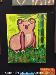 Local Artist Canvas Painting Koala Portrait