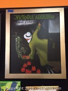 Thick Framed Art Print Victoria Arduino By Leonetto Cappiello
