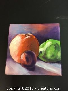 "Canvas Still Life ""Fruit"" Deep Purple Background For This Fruit Still Life"