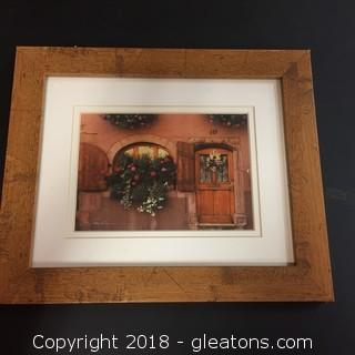 10x12 Framed Print Warm Toned Print Of Outside of A Residence Abroad