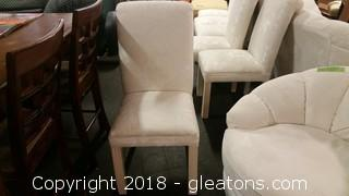 Beautiful Uphols Parsons Chair- Cream Colored- Schnadig Corp