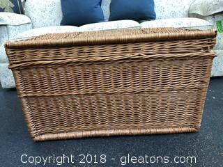 Farm House Wicker Trunk Coffee Table