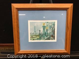 Paris Pont Alexandre III Print, Custom Framed And Matted