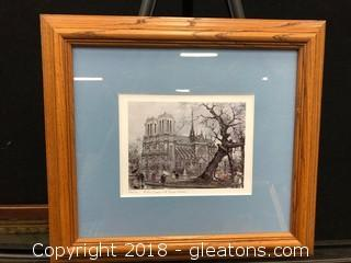 Paris Notre Dame (A) Print, Custom Frame And Matted
