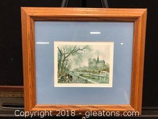 Paris Notre Dame (C) Custom Frame And Matted