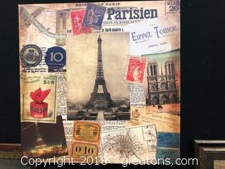 Parisien Canvas Art, Wall Decor
