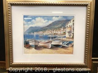 Framed print French Riveria
