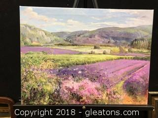 Timothy Easton French Countryside Unframed Canvas Print