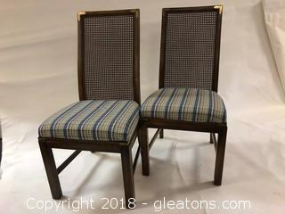 American Of Martinsville Mid Century Dining Chairs, Cane back (2)