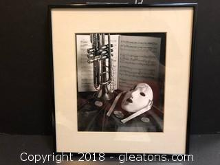 "Framed Photograph Black And White 12"" New Orleans"