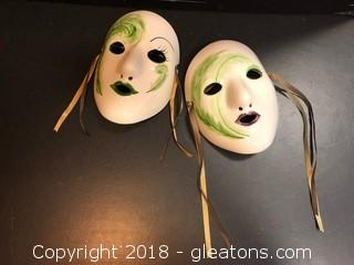 Handmade Masks New Orleans Wall Decor 6""