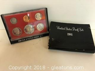 Coin Collector Black Box Proof Set 1981