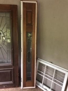 Beautiful Side Window For Door - Perfect for Home Decor Re-Purpose