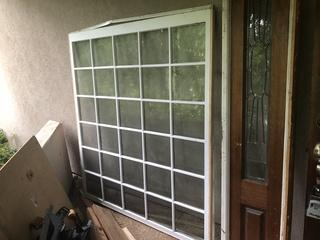 Large 30 Pane Solid Wood Window in Great Condition