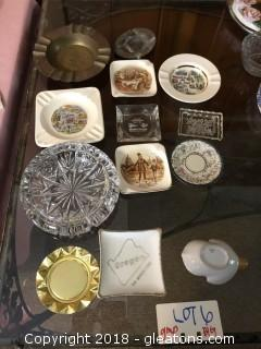 Vintage lot of Ashtrays from 1950's