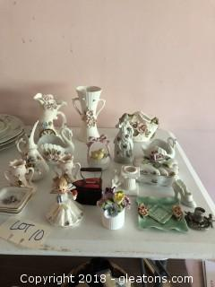 Large lot of 1950's porcelain figurines