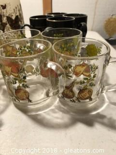 Large Lot of Vintage Glasses and Mugs