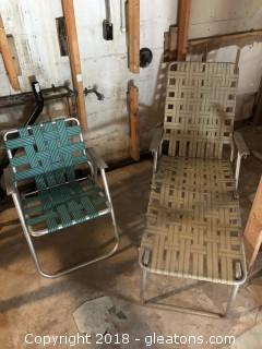 1950's Aluminum folding lawn chairs