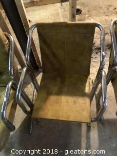 Lot of 3 Mid Century Modern Chrome and Leather Side Chairs