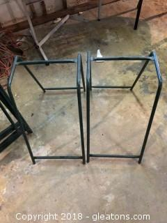 Pair of vintage golf bag holders CC