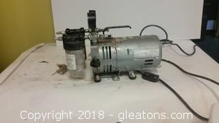 Gast Rotary Vane Vacuum Pump 2 Intake Exhaust Muffler- 0253-UAF