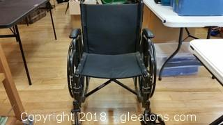 Everest & Jennings Transport Wheel-chair- No Feet Support