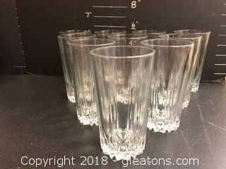 Lot Of 10 Tall Glasses, Heavy