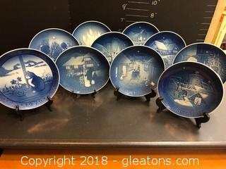 Royal Copenhagen Collection Of  Plates, 1970's