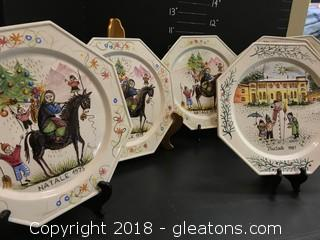 Nikko Christmastime Collectable Plates Lot
