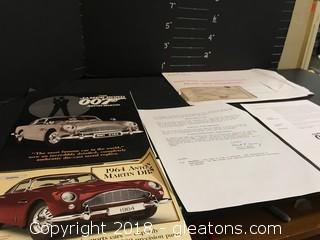 James Bond 007 Replica Lot. Including Replica Scale Aston Martin DB5
