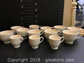 Wedgwood Edme Tea Cup Set Varied Sizes