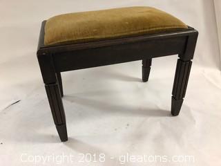Mid Century Bench Velvet Seat And Spode Legs