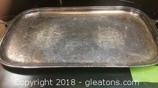 """Gorham- Silver Plate - 24"""" Namport Tray"""