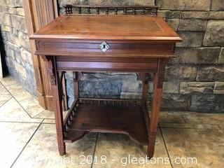 Hand Carved Antique Secretary Small And Unique