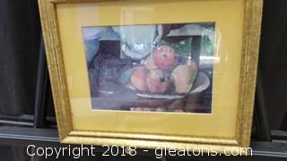 Fruit In a Bowl- Gold Speckled Frame