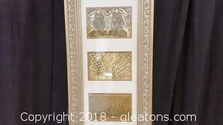 Gildea Frame- 3 Pics- Block Print