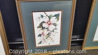 Beautiful Water Color- B Sumrall Lovely Flowers  (B)