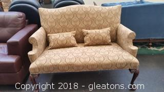 Tapestry- 2 Seater Settee- Included 2 Pillows- Custom Made
