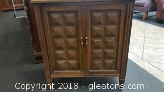 Mid Century Modern Sewing Cabinet + Golden Touchd Go Sewing Machine- 630